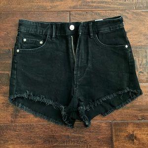 Zara Black Denim Shorts